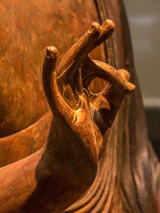 あみだにょらいざぞう 木造・漆箔・玉眼 鎌倉時代 12~13世紀 静岡県願生寺 来迎印 運慶系 国立博物館本館