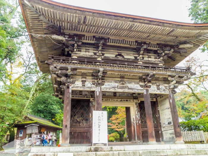 大門(仁王門)重要文化財/室町時代築。元々は別の寺の門だったが、徳川家康によってここに移された