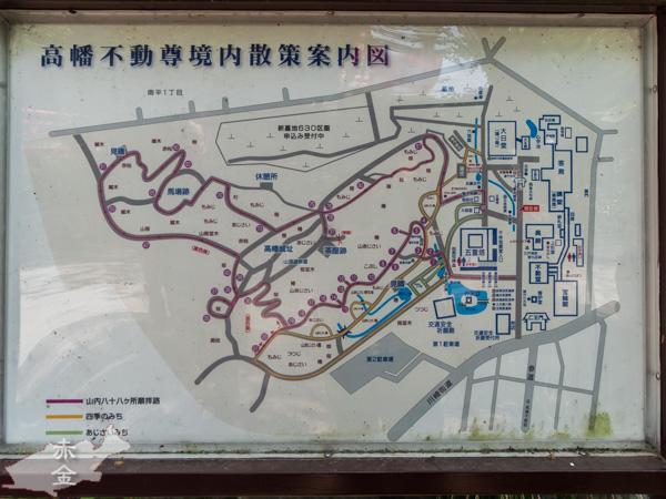 境内案内図。散歩道としても楽しめそう