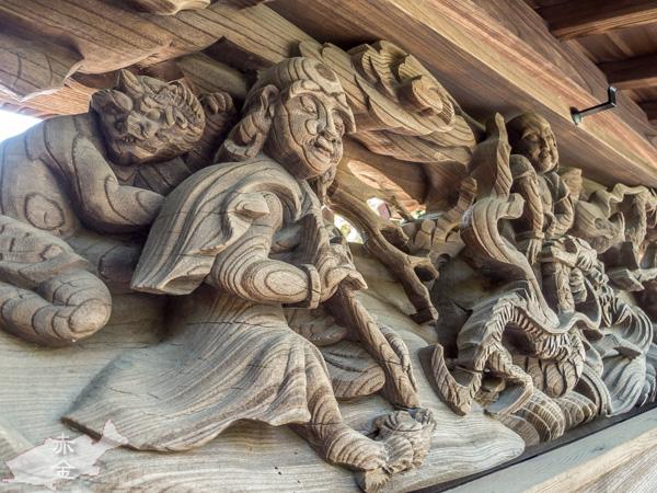 大日堂山門欄間の彫刻