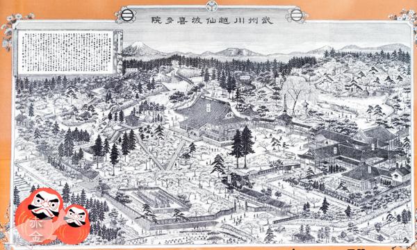 広大な敷地を誇った江戸時代の喜多院境内図