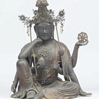 よく見られる如意輪観音像。所蔵:国立博物館